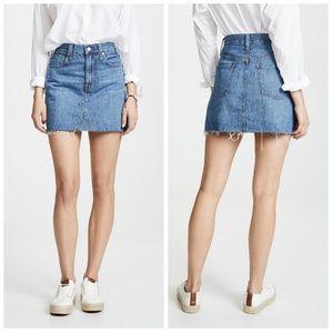 Madewell Ridgid A-Line Denim Mini Skirt